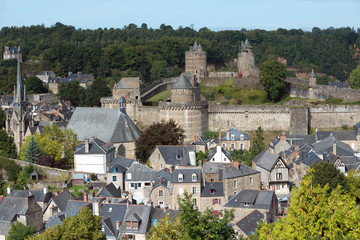 Fougeres, a historic town in Brittany, France