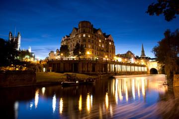 City of Bath at night , Somerset, England