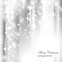 Silver Festive Christmas Background - Vector Illustration