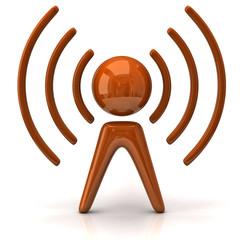 Orange communication antenna tower