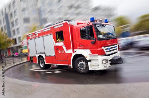 Leinwanddruck Bild Feuerwehrauto
