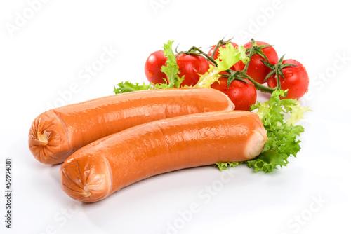 Wurstel con insalata e pomodorino