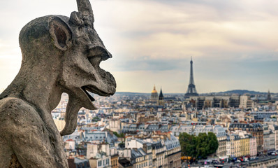Chimera of the Cathedral of Notre Dame de Paris