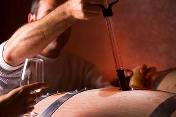 Prélèvement de vin