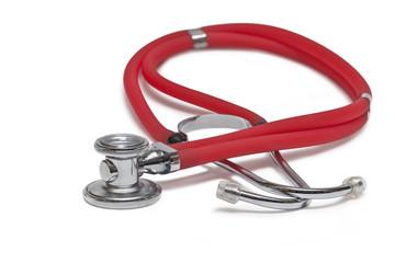 Stethoskop auf weißem Hintergrund isoliert