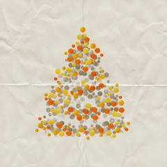 abstract christmas tree paper