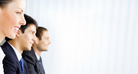 Businesspeople at meeting, presentation or conference