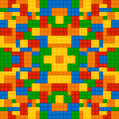 Colored Building Blocks Texture