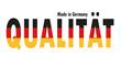 Qualität made in Germany - Vektor
