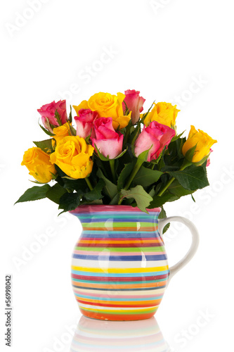 Colorful bouquet roses