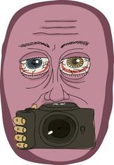 Strange Man Holding Camera