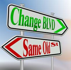 change same sign