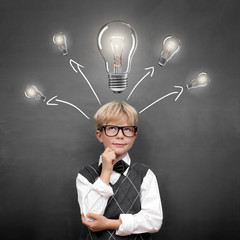 Child with thinking about Ideas