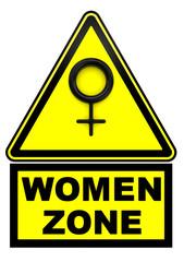 Зона женщин. Дорожный знак