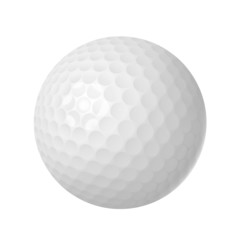 golf ball over white