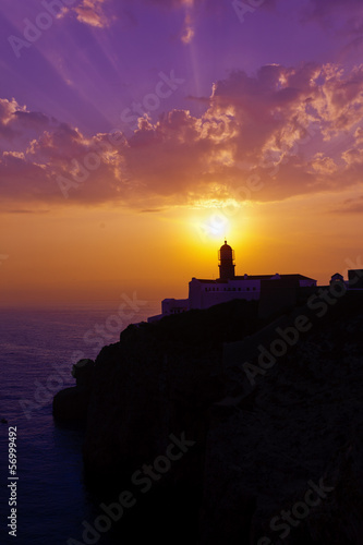 San Vicente cape lighthouse in Algarve.Portugal