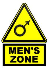 Зона мужчин. Дорожный знак