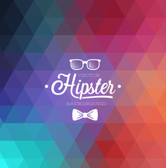 Hipster background. Vector illustration.