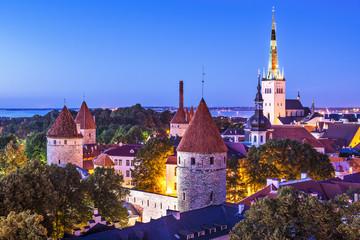 Tallinn, Estonia Old Town Skyline