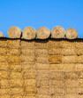 bale of straw in autumn