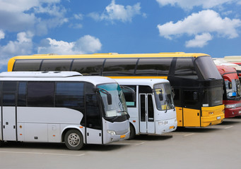 buses on parking