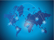 world map medical network illustration