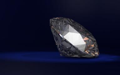 Diamond on Blue Background