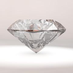 Diamond on Grey Background