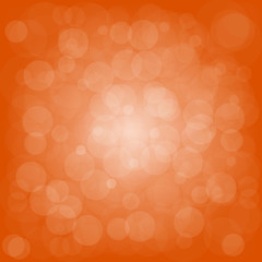 Defocused orange abstract christmas background