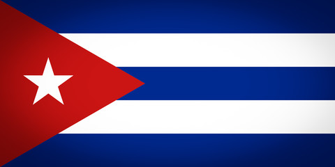 Flag of Cuba vignetted