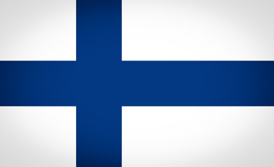 Flag of Finland vignetted