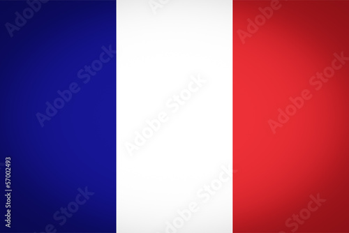 French flag vignetted