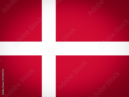 Flag of Denmark vignetted