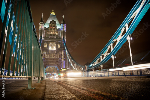 Traffic on the Tower Bridge