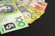 Australian paper money with copy space in rh corner