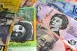 Australian paper money for wealth concept