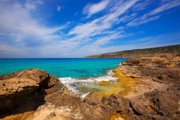 Formentera Es Calo de Sant Agusti turauoise sea