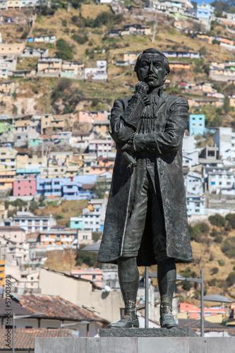 Statue of Eugenio de Santa Cruz in Quito, Ecuador