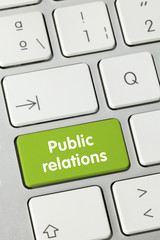 Public relations keyboard