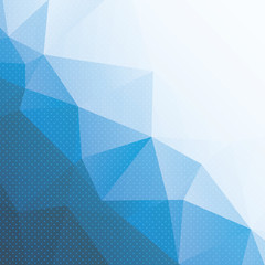 abstract blue triangle background with dots