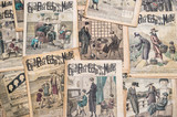 "antique french fashion magazine ""La Mode Illustree"" from 1919"