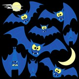 bats cartoon vector