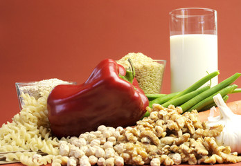 Low GI glycemic index foods for healthy slimming dieet