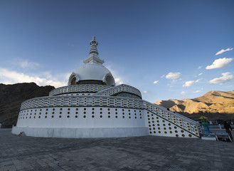 Shanti Stupa in Ladakh, India