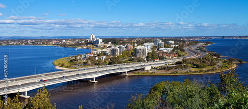 Perth vista da Kings Park, Australia