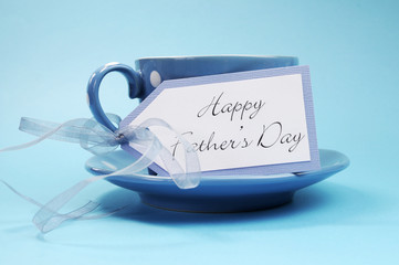 Happy Fathers Day gift tag with a cup of coffee