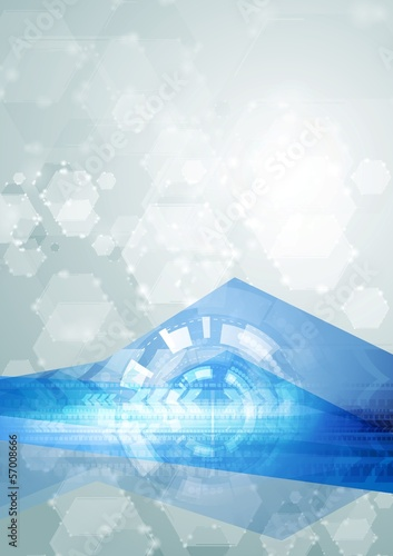 Bright abstract hi-tech vector illustration