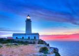 La Mola Cape Lighthouse Formentera at sunrise poster