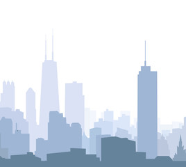 Chicago morning skyline - Vector