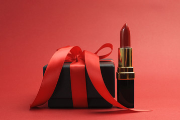 Red love theme luxury red lipstick with black gift